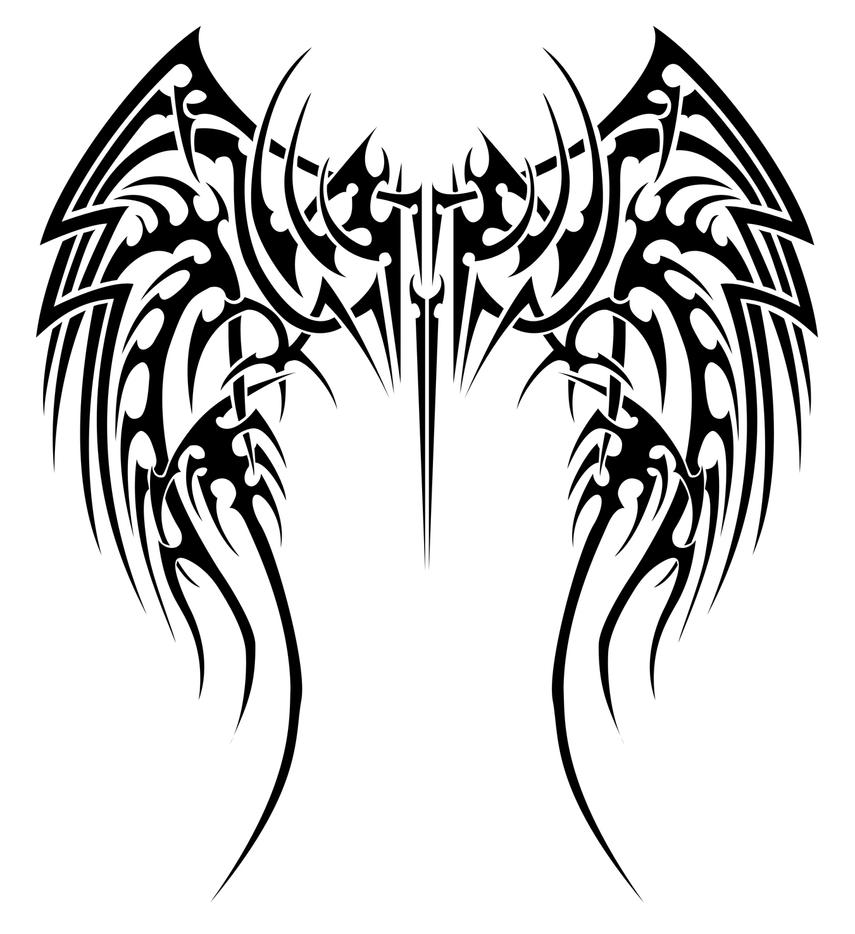 Angelic tribal wings by insomnia-maniac