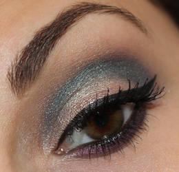 Avon true colour eyeshadow duo teal attitude by Talasia85