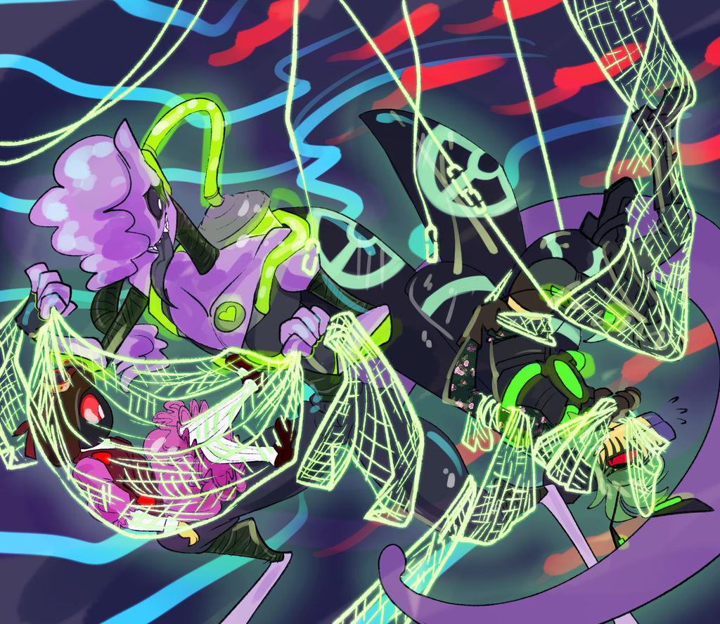 Bugs in a Net by fluffyz