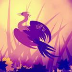 Crane in Reeds