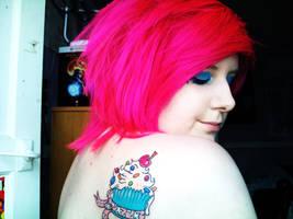 Cupcake tattoo by rawrnessxx