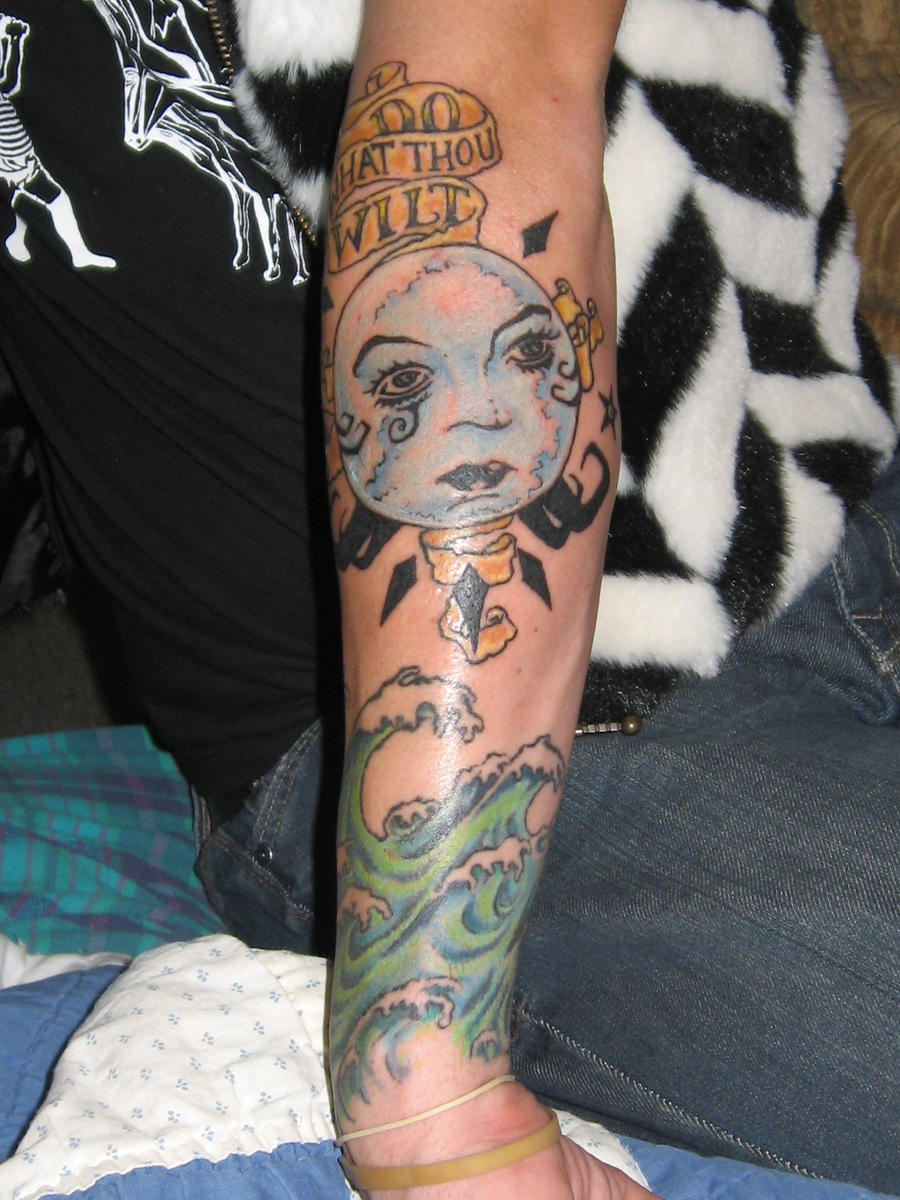 other sleeve in progress