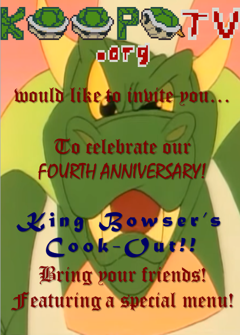 king bowser s cook out invitation by princeofkoopas on deviantart