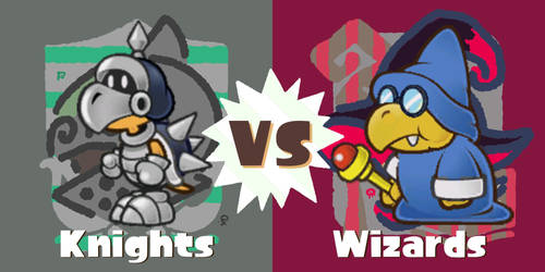 Koopatrols vs. Magikoopas (Knights vs. Wizards)