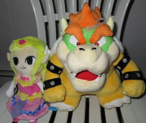 Toon Zelda and Master Bowser Plushies