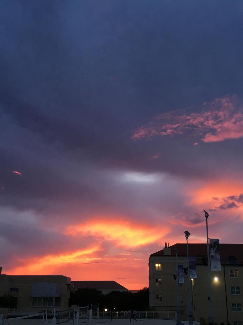 Sunset near Rec Center by Peppermintpony899