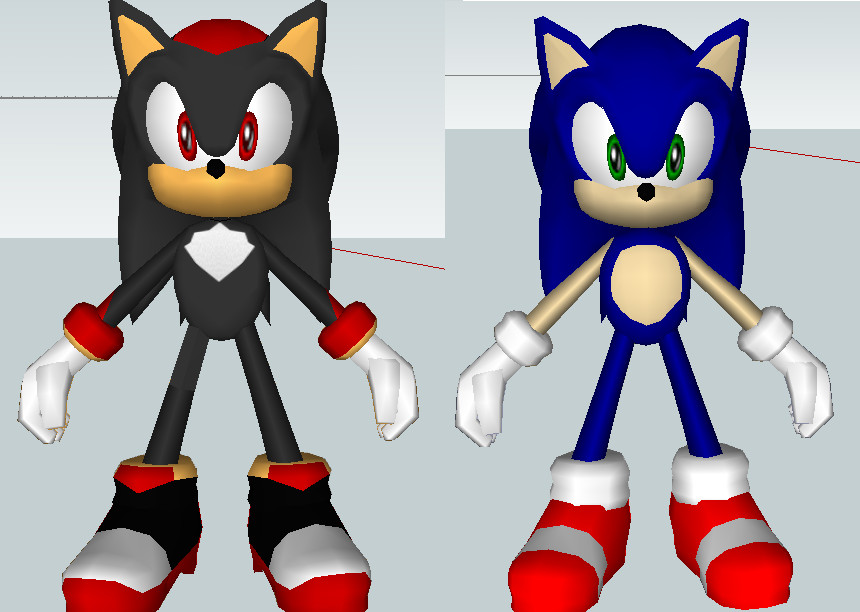 3d sonic and shadow by mephilez on deviantart - Sonic et shadow ...