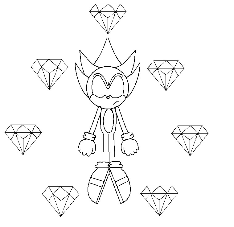 chaos emerald coloring pages - photo#2