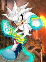 Silver The Hedgehog Physic Fly by Mephilez