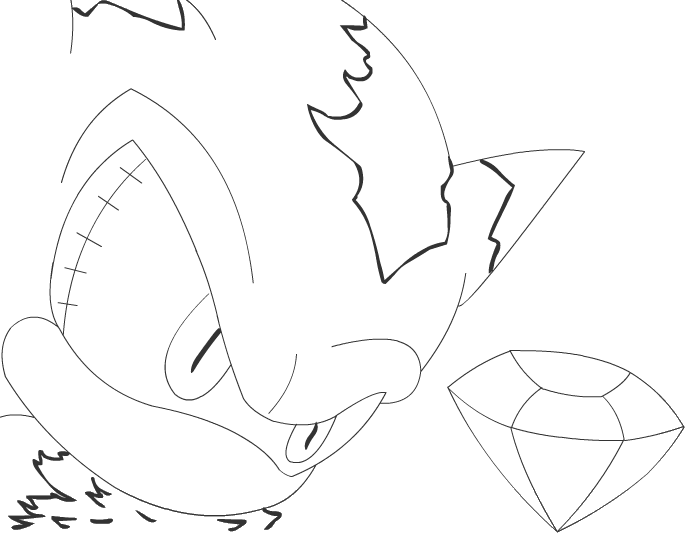 sonic mephiles coloring pages - photo#23
