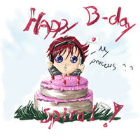 Happy Late  Bday Spiral by Anneuh