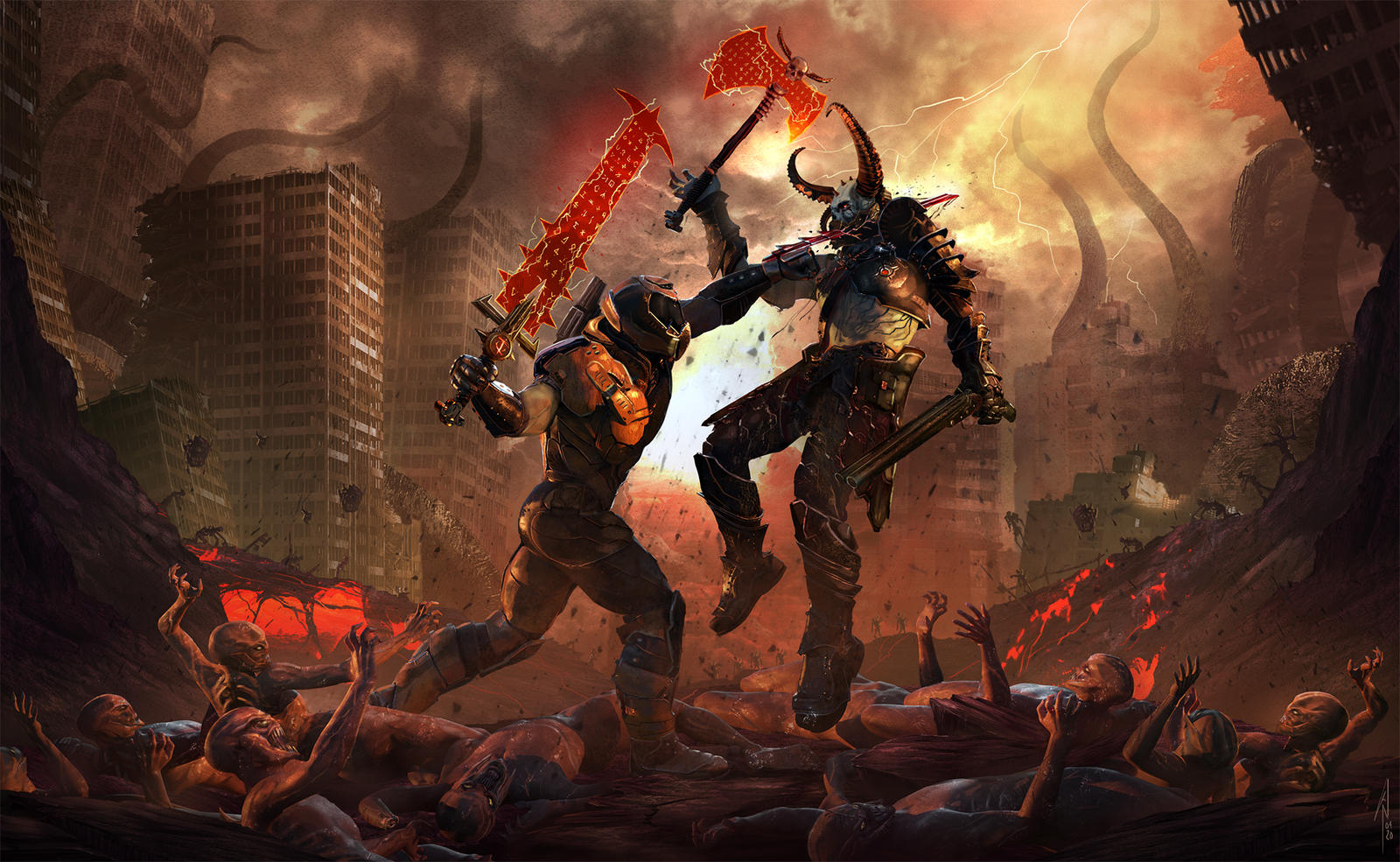 Doom Eternal Fan Art By Infesth6 On Deviantart