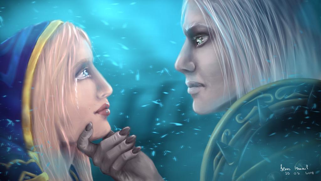 Jaina and Arthas by Engelthal-B