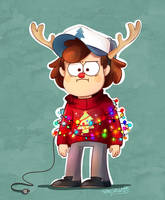 Christmas Dipper is not amused. by CherryVioletS