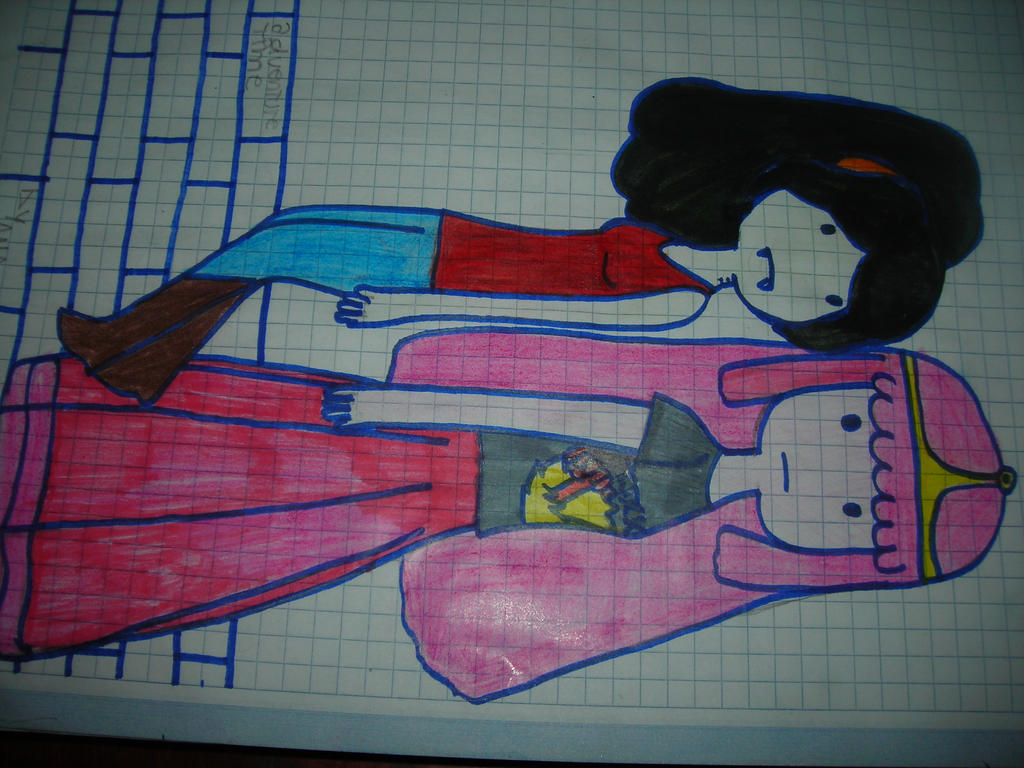 Adventure Time : Marceline and Princess Bubblegum by N00dleChan