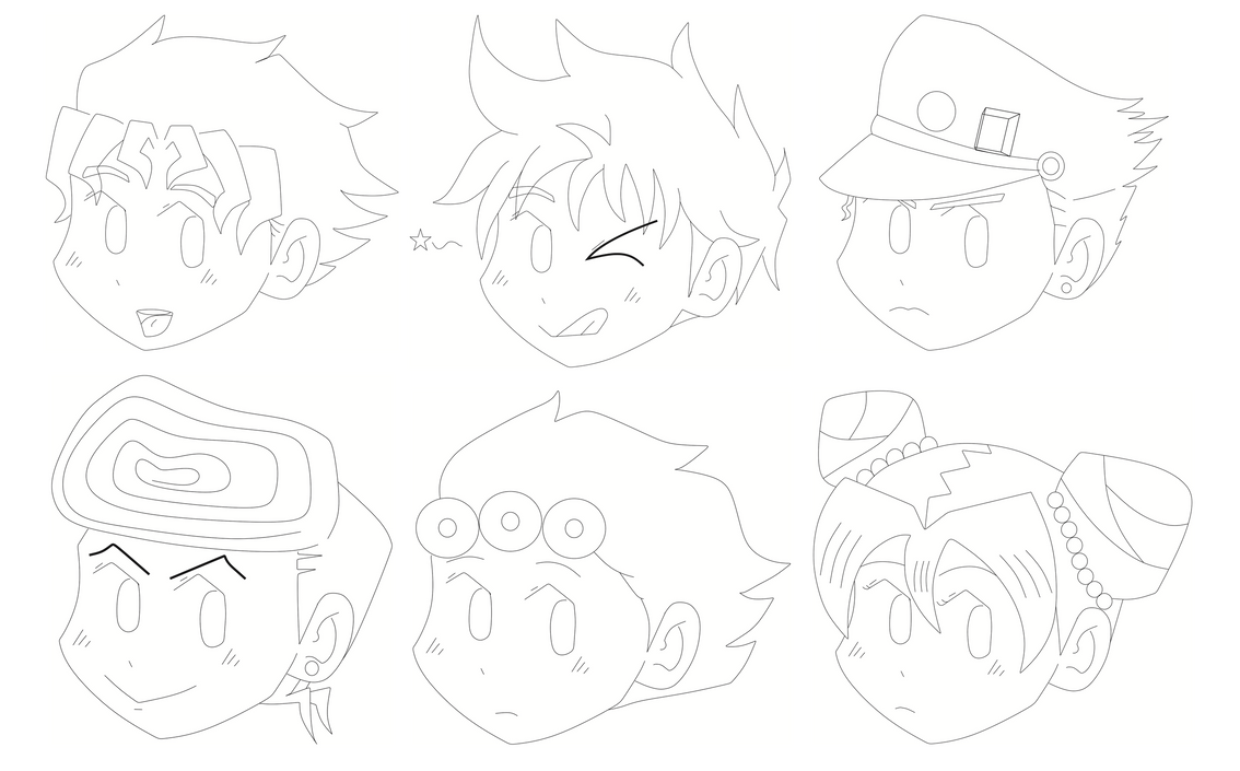 Jojos chibi face's ouo by N00dleChan
