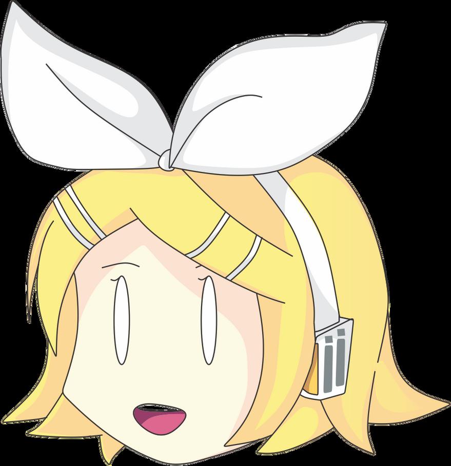 Kagamine Rin Chibi Head Sticker by N00dleChan
