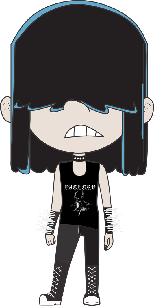 Metalhead Lucy Loud by N00dleChan