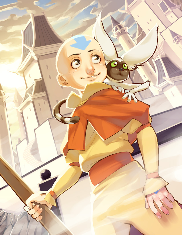 Avatar Aang by nikogeyer
