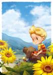 Sunflowers and a Blue Sky