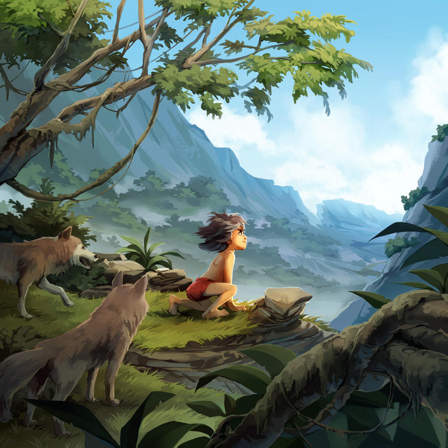 The Jungle Book Cover Art : The jungle book by nikogeyer on deviantart