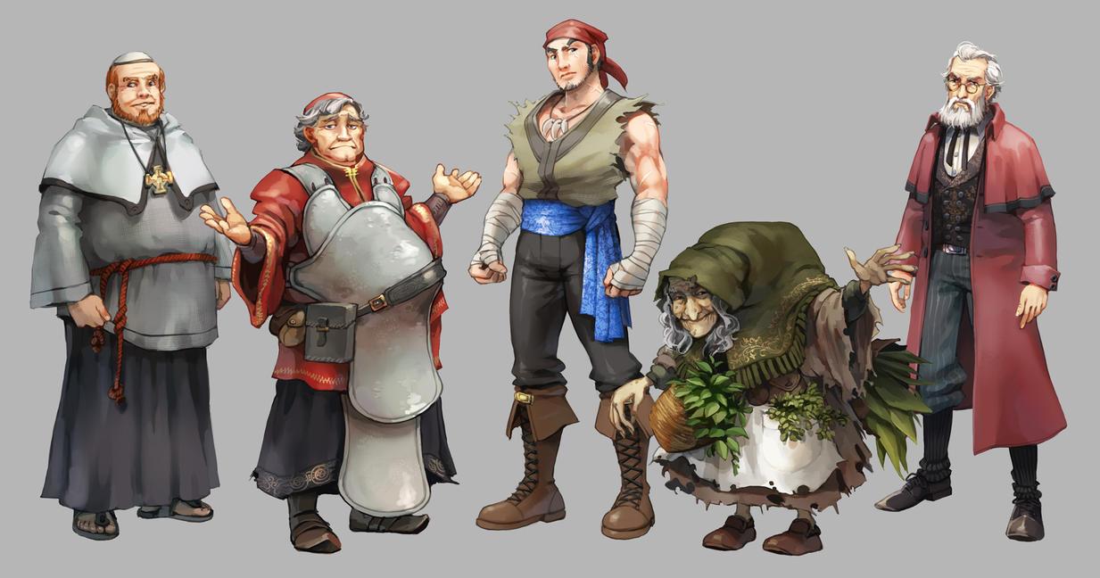 Die letzen Helden NPCs by nikogeyer