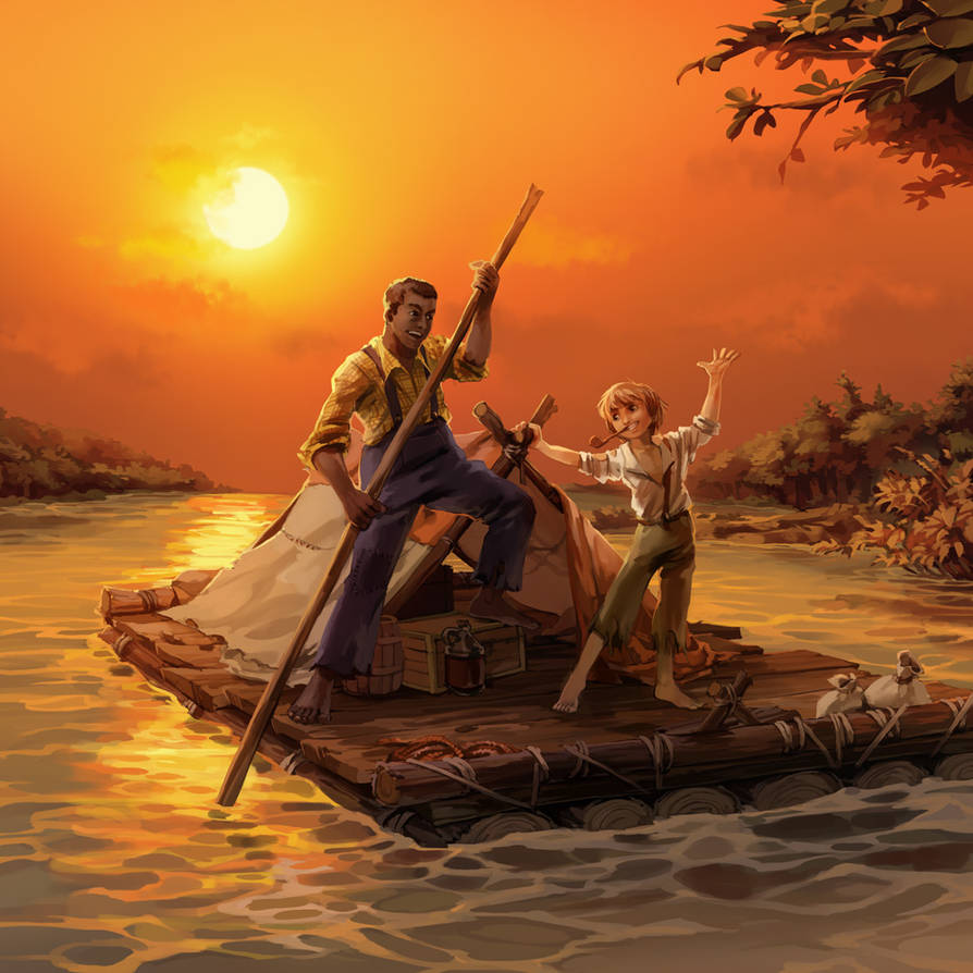 The Adventures of Huckleberry Finn by nikogeyer