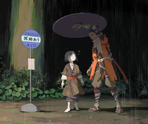 My Neighbor Sekiro by nikogeyer