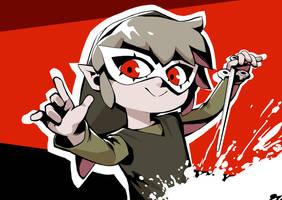 Toon Link x Persona 5 by nikogeyer