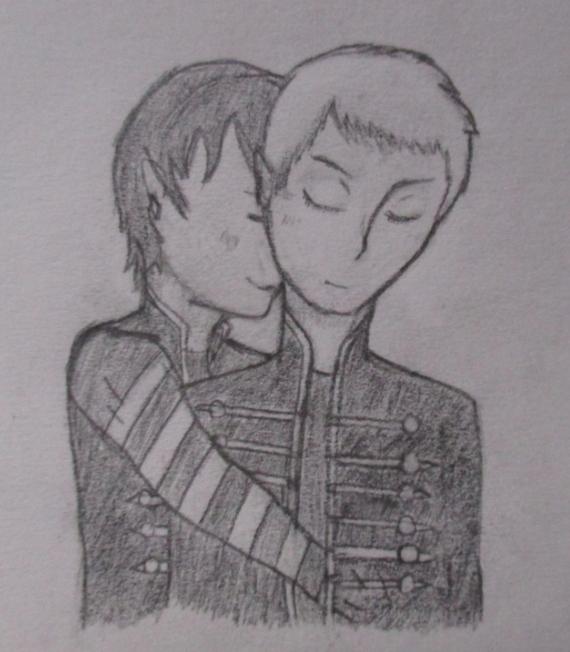 Frerard (crappy pencil sketch) by blurrygerard