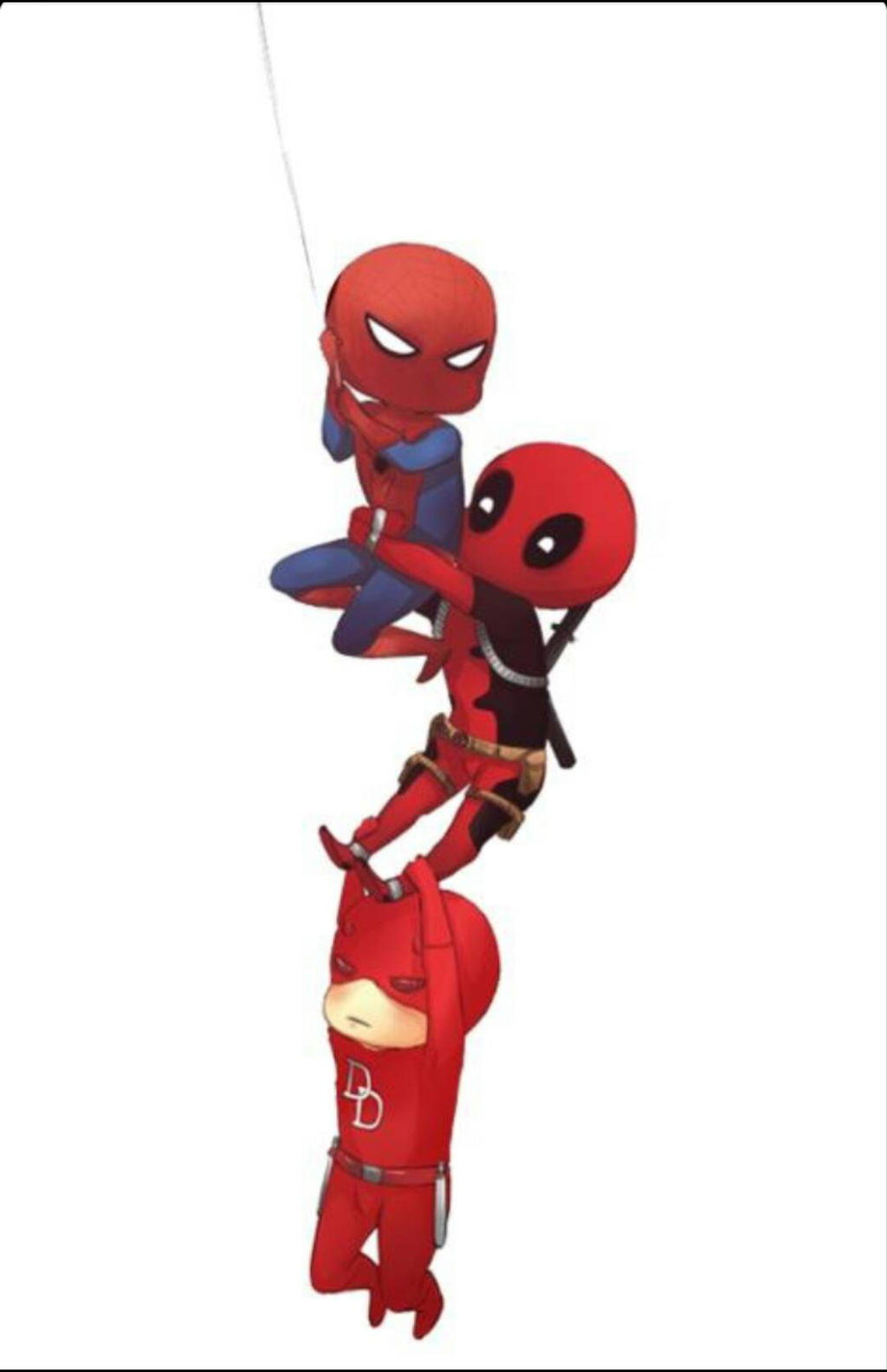 Spiderman Deadpool And Daredevil By Gabus Khan