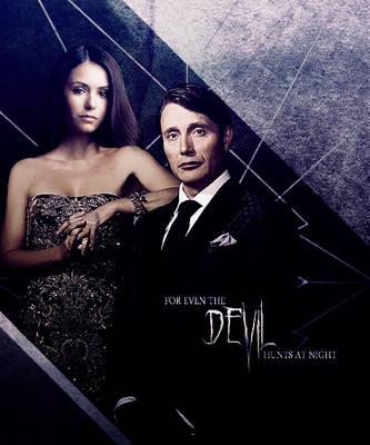 Katherine Pierce + Hannibal Lecter by MidnightRippah