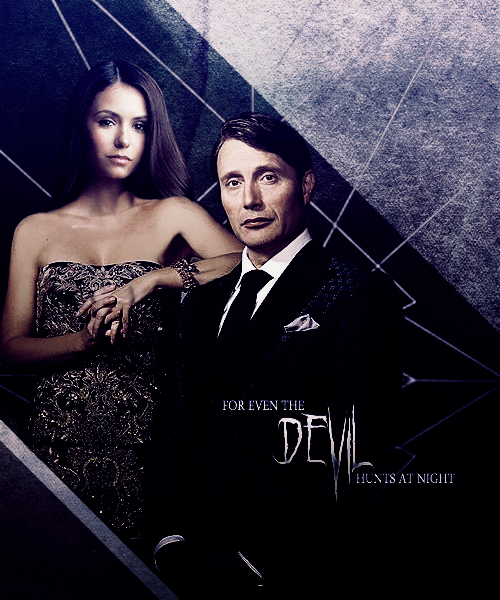 Katherine Pierce + Hannibal Lecter by MidnightRippah