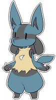 Chibi Thingy :: Lucario by the-overfiend