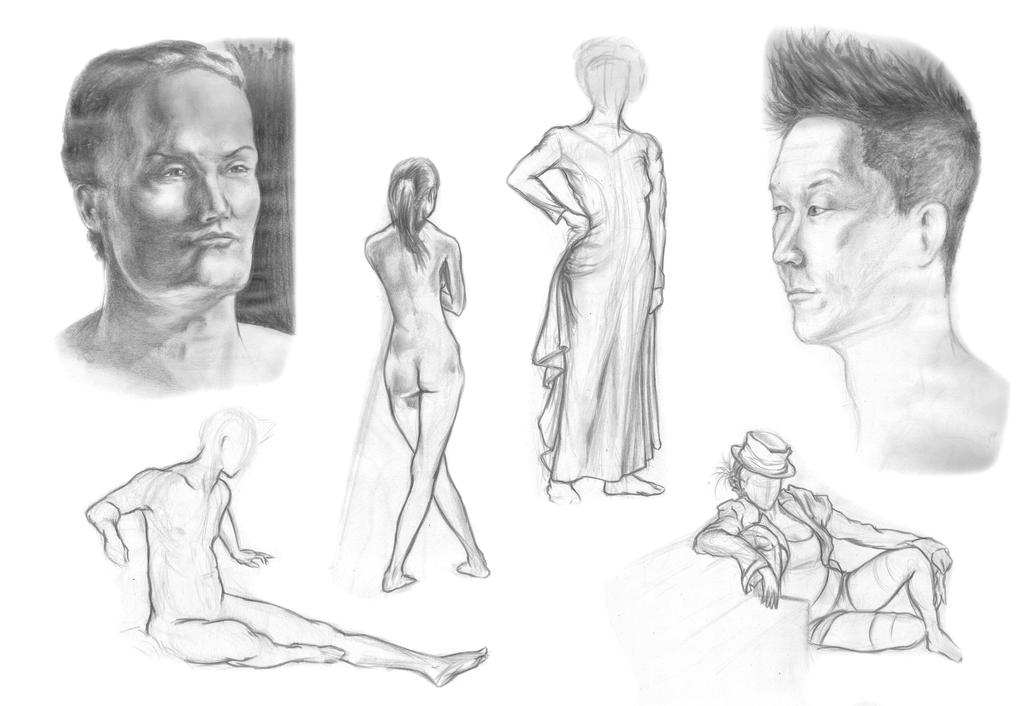 Term 4 Life Drawing Critique by IVRisk
