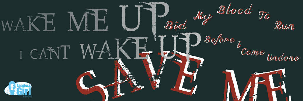 Evanescence - Bring Me to Life (Typography) by