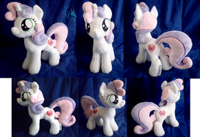 SOLD! Sweetie Belle - Custom Plush by Fire-Topaz