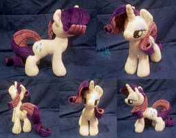SOLD - Rarity 2.0 - Custom Plush by Fire-Topaz