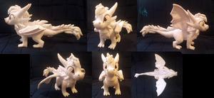 SOLD! Albino Ice Dragon - Signature Plush