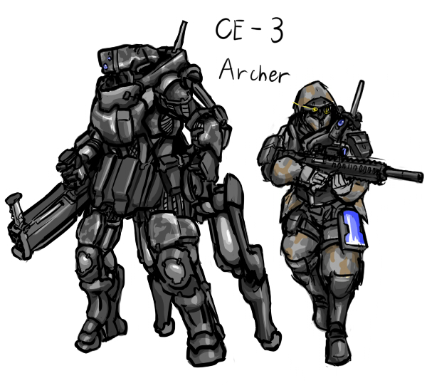 American Armored Combat Exoframe by rooki1