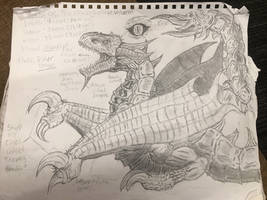 Tarturios: the eternal hellfire wyvern by supersairaptor