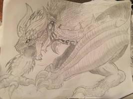 Nergigante vs Tarturios by supersairaptor