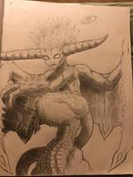 Kaito as an emberkin by supersairaptor