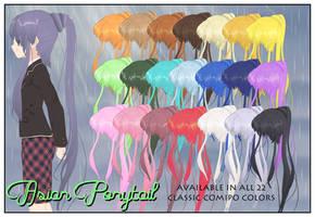 Asian Ponytail CSU Models by LadiSilverfox
