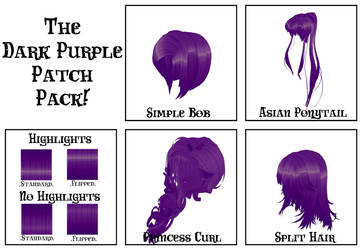 The Dark Purple Patch Pack! by LadiSilverfox