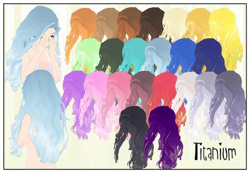 Hair Titanium CSU Models by LadiSilverfox