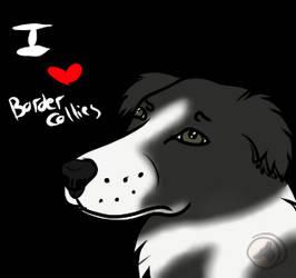 [Free to use] I Heart Border Collies Icon