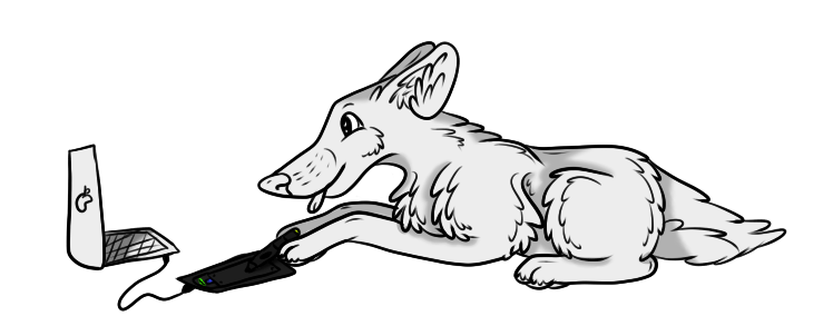 Wolf With Tablet Freebie