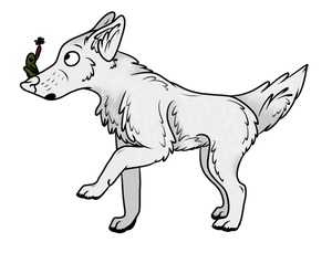 Wolf with Frog and Fly Freebie
