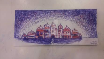 Untitled, pen on scrap paper